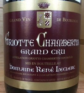 Leclerc Griotte Chambertin 2010