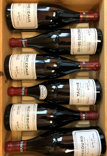 Six bottles of Domaine de la Romanee-Conti
